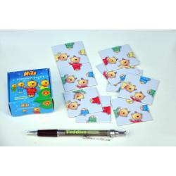 Hlavolam Puzzle Míša 9 kartiček v krabičce 6x6x3cm