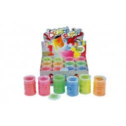 Sliz - hmota 80g neonová 8x5,5cm asst 6 barev 12ks v boxu