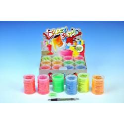 Sliz - hmota neonová 8x5,5cm asst 6 barev 12ks v boxu