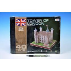 Pěnové puzzle 3D Tower of London 40 dílků v krabici 30x21x3cm