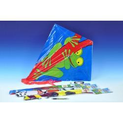 Drak létající plast 72x68cm asst 6 druhů v sáčku