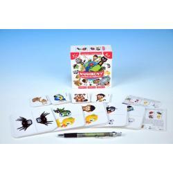 Kubíkovy hrátky se zvířátky společenská hra v krabičce 10,5x10,5cm Hmaťák