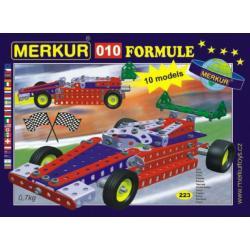 Stavebnice MERKUR 010 Formule 10 modelů 223ks v krabici 26x18x5cm