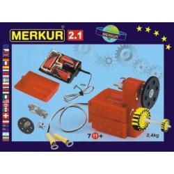 Stavebnice MERKUR 2.1 Elektromotorek v krabici 26x18x5cm
