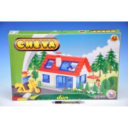 Stavebnice Cheva 42 Dům plast 45x30x5cm 244ks v krabici