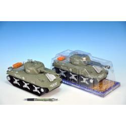 Tank plast 26cm hnědý na setrvačník v krabičce