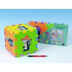 Pěnové puzzle Krtek 15x15cm asst 3 druhy 6ks v sáčku