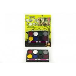 Barvy obličejové na kartě karneval 17x21x1,5cm