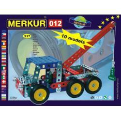 Stavebnice MERKUR 012 Odtahové vozidlo 10 modelů 217ks v krabici 26x18x5cm