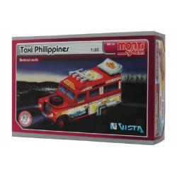 Stavebnice Monti System MS 34 Taxi Filipini 1:35 v krabici 22x15cm