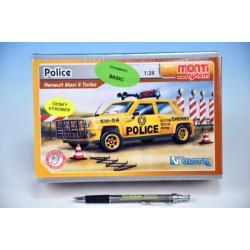 Stavebnice Monti 41 Police-Renault Maxi 5 1:28 v krabici 22x15x6cm