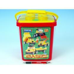 Stavebnice Cheva 2 Basic plast 352ks v kbelíku 17x22x17cm