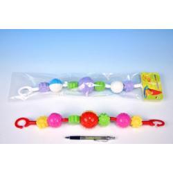 Řetěz/zábrana koule/kytičky plast 41cm 0m+