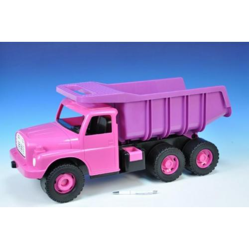 Auto Tatra 148 plast 73cm v krabici - růžová