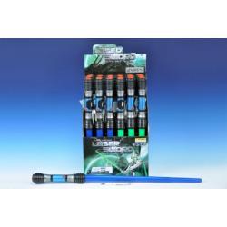 Vesmírný meč svítící plast 83cm na baterie a zvukem asst 2 barvy 24ks v boxu