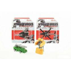 Transformer bojové vozidlo/robot plast 8cm asst 4 druhy na kartě