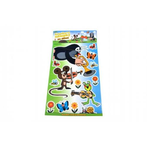 Dekorace Krtek nálepky na stěnu 50x32cm 1list na kartě