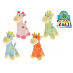 Žirafa plyš 14cm asst 4 barvy 18ks v boxu 0m+