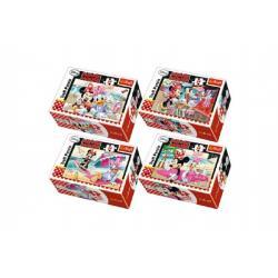 Minipuzzle Minnie & Daisy  54dílků asst 4 druhy v krabičce 9x6x3cm 40ks v boxu