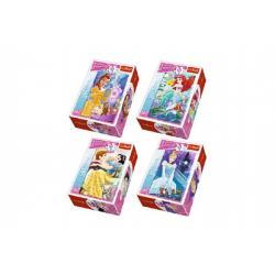 Minipuzzle Princess/Disney 54dílků asst 4 druhy v krabičce 6x9x4cm 40ks v boxu