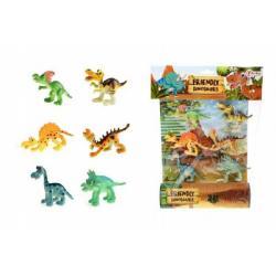 Veselá zvířátka Dinosauři plast 6ks v sáčku 26x35x4cm