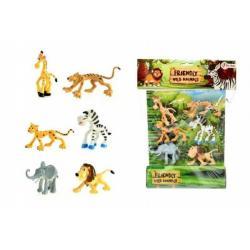 Veselá zvířátka Safari 6ks v sáčku 26x34x4cm