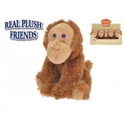 Orangutan plyšový 16cm sedící 8ks v boxu 0m+