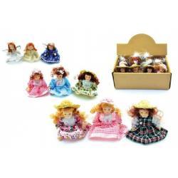 Miniaturní panenka porcelán 8,5cm asst 12ks v boxu