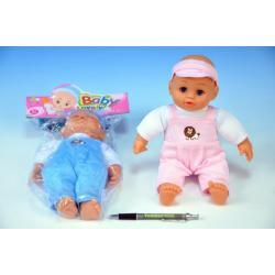 Panenka miminko měkké tělo 27cm asst 2 barvy v sáčku