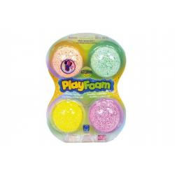PlayFoam® Modelína/Plastelína kuličková 4 barvy na kartě 19,5x27x3cm