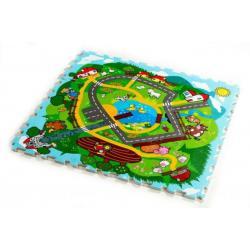 Pěnové puzzle Město Moje první zvířátka 30x30x1,2cm 9ks MPZ