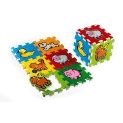 Pěnové puzzle Moje první zvířátka 15x15x1,2cm 6ks MPZ