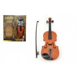 Housle/Viola plast 45cm na baterie se zvukem se světlem v krabici