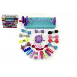 Kreativní sada na pletení náramků s doplňky plast v krabici 34x30x13,5cm