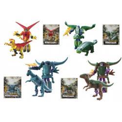 Transformer dinosaurus/robot plast 16cm asst 4 druhy na kartě