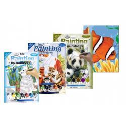 Malování podle čísel - Junior 7 barev asst na kartě