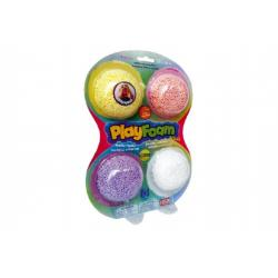 PlayFoam Modelína/Plastelína kuličková 4 barvy na kartě 18x27x4cm