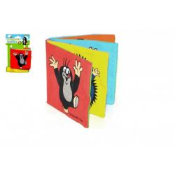 Knížka Krtek textilní šustící rozkládací 10x10cm na kartě 0+