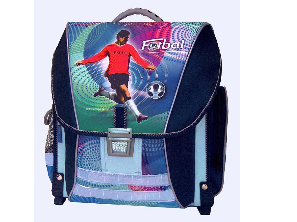 Sleva 44%. Výprodej. Školní batoh Emipo Fotbal - set 5f0419a895