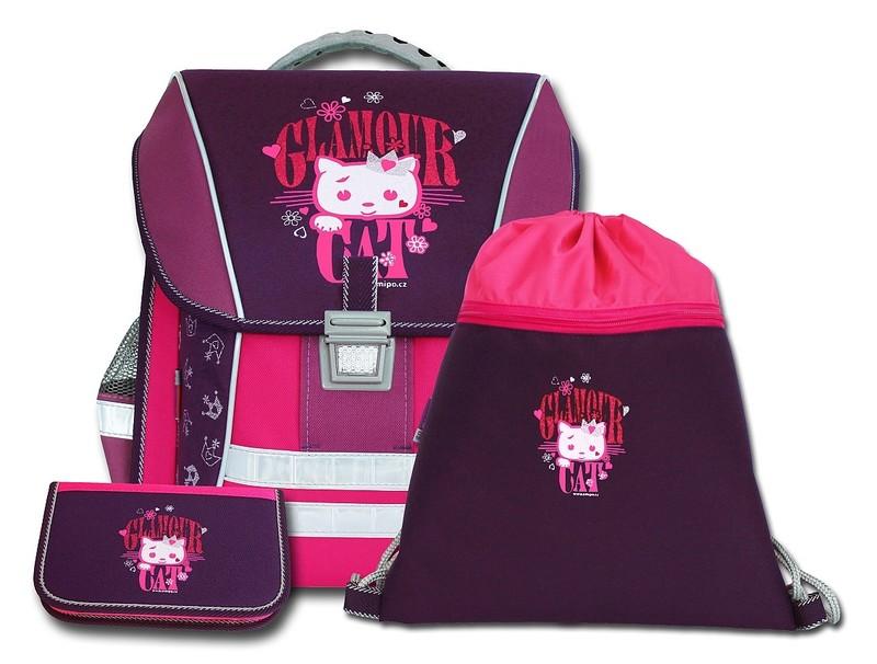Školní batoh Emipo Cat glamour - set 829932455b