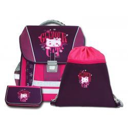 Školní batoh Emipo Cat glamour - set
