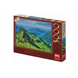Puzzle Švýcarsko Uri 3000 dílků 117x84cm v krabici 43x30x5,5cm