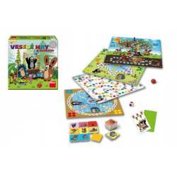 Veselé hry s Krtkem společenská hra v krabici 30x30x7cm
