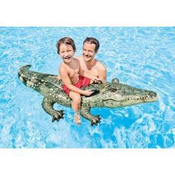 Lehátko Krokodýl nafukovací s úchyty 170x86cm od 3 let