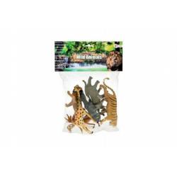 Zvířátka safari ZOO plast 17cm 6ks v sáčku