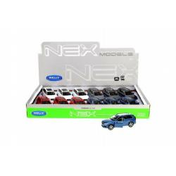 Auto Welly Volvo XC 90 kov 12cm volný chod asst 4 barvy 12ks v boxu
