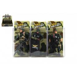 Voják figurka plast 10cm asst v krabičce 24ks v boxu
