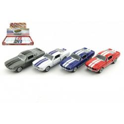 Auto Kinsmart Shelby GT-500 kov 13cm na zpětné natažení asst 4 barvy 12ks v boxu