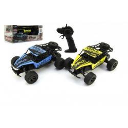 Auto RC Buggy plast/kov 20cm s adaptérem na baterie asst 2 barvy v krabici