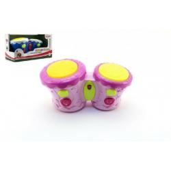 Bubínky plast 23cm na baterie se zvukem se světlem asst 2 barvy v krabici 30x16,5x14cm
